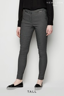 New Look Tall Grid Jacquard Bengaline Trouser