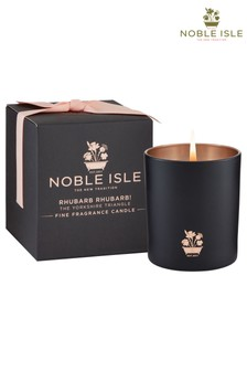 Noble Isle Rhubarb Rhubarb! Single Wick Candle - The Yorkshire Triangle -  Bittersweet Evocative Aroma