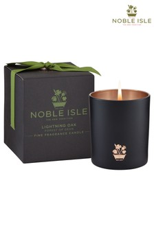 Noble Isle Lightning Oak Single Wick Candle - Forest Of Dean - Endurance & Courage