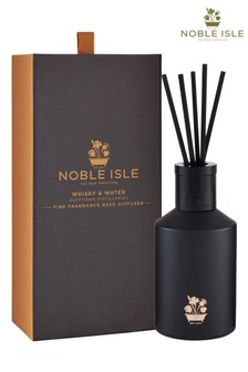Noble Isle Whisky & Water Scented Reed Diffuser - Dufftown Distilleries -  Spicy And Warm Fragrance