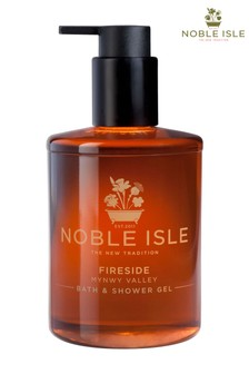 Noble Isle Fireside Luxury Bath & Shower Gel - Mynwy Valley - Warming And Sensual