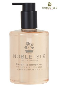 Noble Isle Rhubarb Rhubarb! Luxury Bath & Shower Gel - The Yorkshire Triangle - Cleansing And Purifying