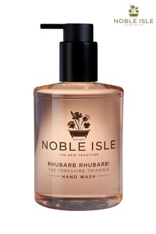 Noble Isle Rhubarb Rhubarb! Luxury Hand Wash - The Yorkshire Triangle - Cleansing And Purifying