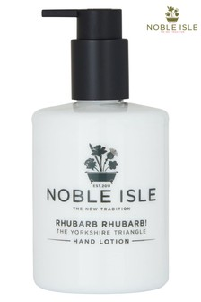 Noble Isle Rhubarb Rhubarb! Luxury Hand Lotion - The Yorkshire Triangle - Protecting And Soothing
