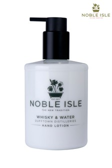 Noble Isle Whisky & Water Luxury Hand Lotion - Dufftown Distilleries -Skin Calming And Protecting