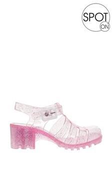 Spot On Glitter Jelly Sandal