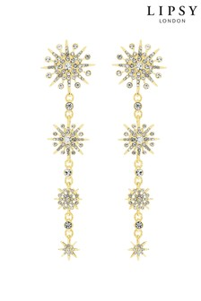 Lipsy Gold Plated Celestial Graduated Drop Earrings