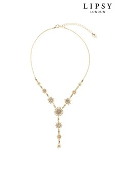 Lipsy Gold Plated Celestial Y Drop Necklace