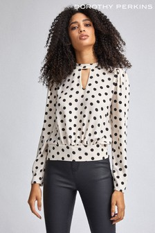 Dorothy Perkins Keyhole Front Woven Top