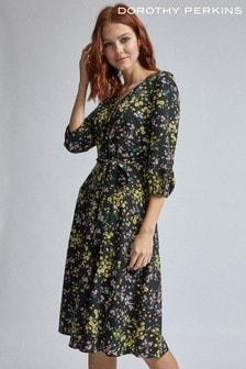 Dorothy Perkins Floral V neck Midi  Dress