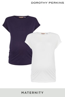 Dorothy Perkins Maternity Roll Sleeves T-Shirt - Pack Of 2