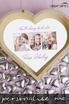 Personalised Mum Large Love Heart Photo Tray by Great Gifts