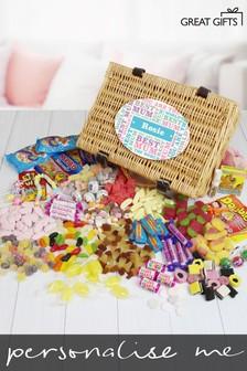 Personalised Best Mum - Retro Sweet Hamper by Great Gifts