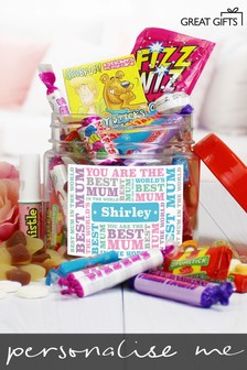 Personalised Best Mum Retro Sweet Photo Jar By Great Gifts