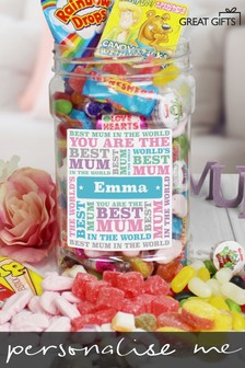 Personalised Best Mum Sweet Jar by Great Gifts