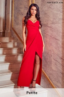 Sistaglam Petite Knot Front Maxi Dress