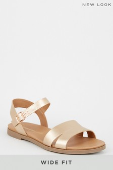 New Look Wide Fit Two-Part Footbed Sandal