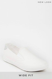 New Look Wide Fit Slip-On Trainers