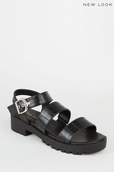 New Look Funky Chunky Croc Sandal