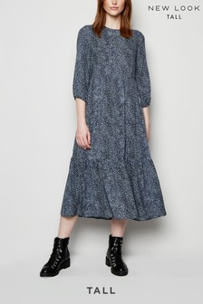 New Look Tall Animal Print Smock Dress