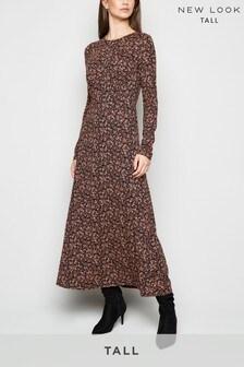 New Look Tall Long Sleeve Midi Dress