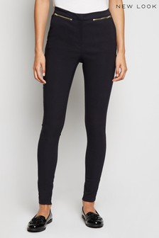 New Look Zip Beng Slim Leg Trousers