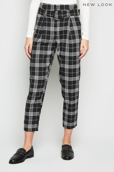 New Look Anne Check Buckle Trouser