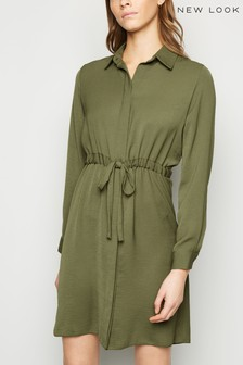 New Look S-String Waist Shirt Dress