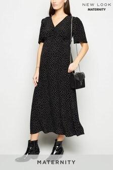 New Look Maternity Spot Button Through Dress