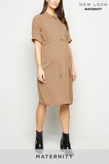 New Look Maternity Drawstring Waist Shirt Dress