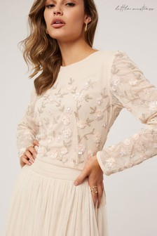 Little Mistress Emma Floral Embellished Sequin Top Co-ord