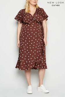 New Look Curve Wrap AC Dress