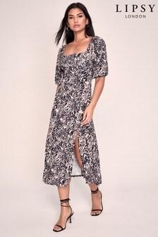Lipsy Jersey Square Neck Midi Dress