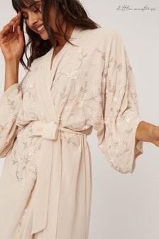 Little Mistress Malina Floral Embellished Sequin Kimono