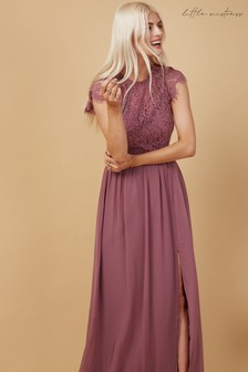 Little Mistress Bridesmaid Sonja Lace Maxi Dress