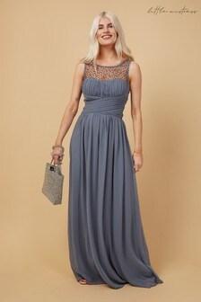 Little Mistress Bridesmaid Justice Embellished Maxi Dress