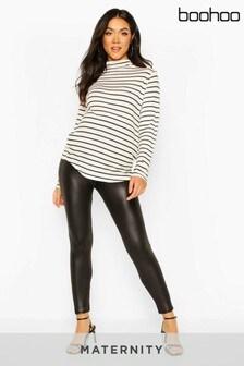 Boohoo Maternity Leather Look Legging