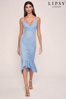 Lipsy Lace Flippy Hem Bodycon Dress