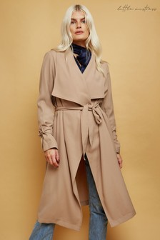 Little Mistress Calibre Tie-Cuff Trench Coat