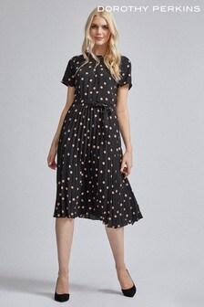 Dorothy Perkins Polka Dot Pleat Midi Dress