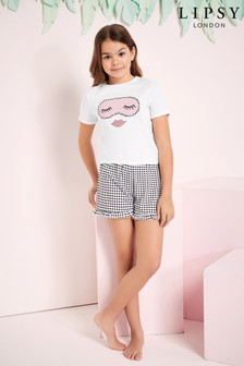 Lipsy Girl Printed Short PJ Set