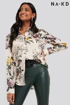 NA-KD Floral Print Shirt
