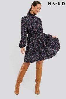 NA-KD High Neck Mini Dress