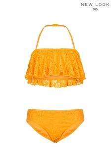 New Look Girls Crochet Frill Bikini Set