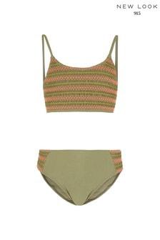 New Look Girls Shirred Bikini Set