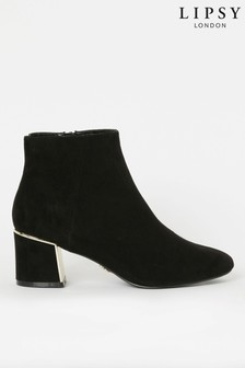 Lipsy Metal Block Heel Boot