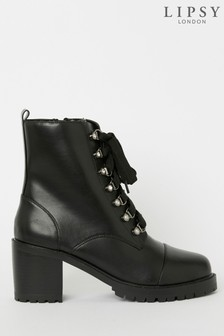 Lipsy Heeled Biker Boot