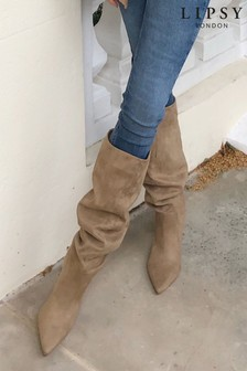 Lipsy Long Ruched Heel Boot