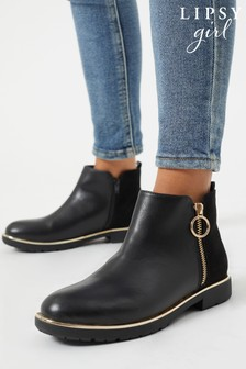 Lipsy Zip Flat Ankle Boot (Older)