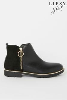 Lipsy Girl Zip Flat Ankle Boot
